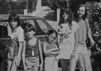 The Libánský family in Spain, 1986