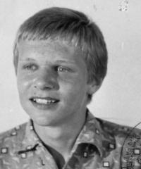 Pamětník patnáctiletý, foto z občanského průkazu