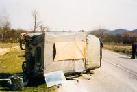 Road accident near Banja Luka, 1998