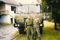 With Alexandr Golubović from the bomb disposal squad