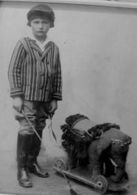 Husband Miroslav Kotlaba in childhood
