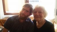Olga s nevlastním vnukem Maxem, 2018