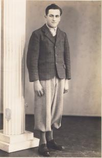 Brother Franz Galle in Chlumec nad Cidlinou in 1956