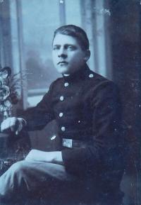 Father Kristián Holáň in the Austro-Hungarian Army