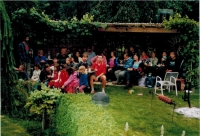 Horký and Vojtas families at chicken barbecue in Ratibořice, 2009
