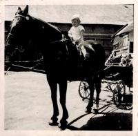 Josef Horký on a horse