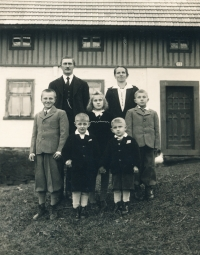 His family during the war