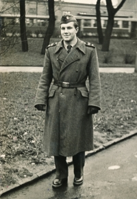 During his military service