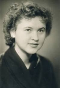 His wife in 1956