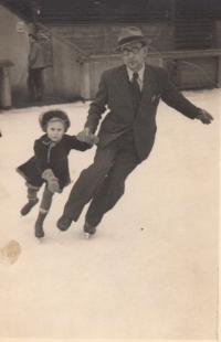 cca 1938 with father