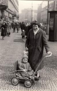 1960 with mother, Prague