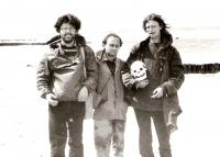 Aleš Bartusek, Ctibor Navrátil and Ivo Mludek, Poland 1987