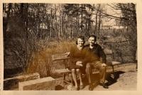 Jaroslav Ermis with neighbor Krista Lehert, 1945