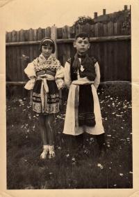 Jaroslav Ermis in Slovak costume, 1933