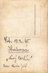 The second page of the photo from Hrabová-Šídlovec