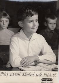Her son George - his first year at school (1964-65)
