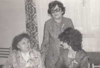 Kamila Karníková with her mother and son´s mother-in-law