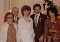 Kamila Karníková with her son George, his wife and parents of his wife