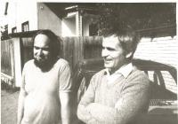 František Lízna, napravo