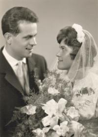 Wedding picture, late 50s