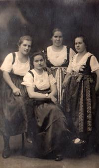 Jaroslav's mother (seated) and her sisters, early 1930s