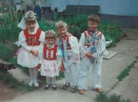 Grandchildren of Antonie. She made all the folk costumes herself