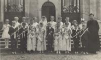 1964 - the first communion of the youngest son