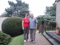 Mr. and Mrs. Král at their house in Úvaly, 2014