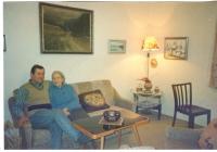 Jan Král with his mom