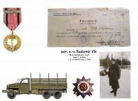 potvrzení - Čs. pamětní vojenská medaile SSSR