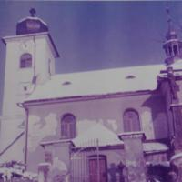 The church in Dlouhomilov, which was repaired by the witness, Antonín Pospíšil, who worked there as a priest in 1979-1980.