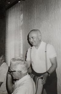 Pamětník Antonín Pospíšil na dobové fotografii.