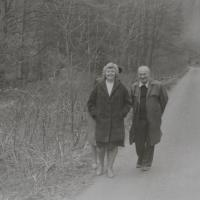 The witness, Antonín Pospíšil, and the housekeeper, Emilie Tylečková, whom he met in 1979 in Dlouhomilov.