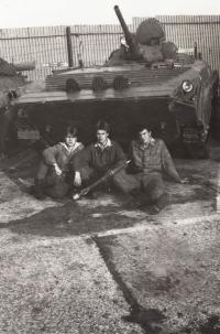 Josef Bernard with friends - military service in Michalovce in Slovakia; 1984-1986