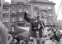 Josef Bernard - revolution in Pilsen; announcement of OF Škoda one week after 17.11. (Wednesday)
