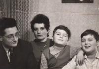 Jarmila in Prague with family, 1970s