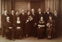 Marriage photography of Eva and Bretislav from 1937