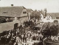 Sedlec village in 1907 - Celebrations of volunteer firefighters