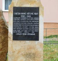 Monument to the victims of World War II in Přáslavice