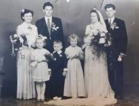 Photographs from the wedding of Jarmila and Václav Langer from 1955