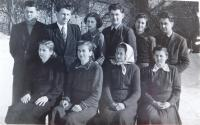 The Langer siblings with their mother. Václav Langer fourth from the top left.