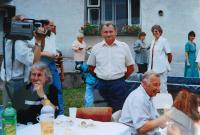 Václav Langer at a family reunion in Přáslavice