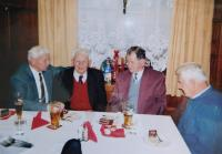 Václav Langer with friends from the PTP