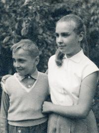 Béla with his sister, 1960s