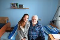 Regina Urubková s panem Kudláčem. Kyjov 14. 2. 2016.