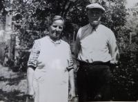 Grandparents Hedwig and Frantisek Sweeney probably in 1962