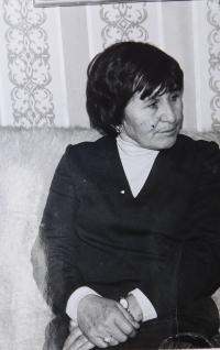 Mother Ludmila Švédová after her return from prison