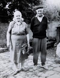 Great-grandmother Hedvika Švédová and her son Zdeněk