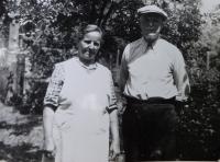 Grandparents Hedvika and František Švéda probably in 1962