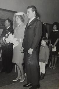 Wedding of uncle Vratislav Švéda after his release from prison
